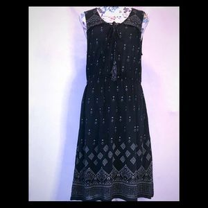 NWT Lucky Brand Navy and White Sleeveless Dress